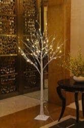 LED Lighted Birch Tree