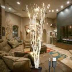 farmhouse christmas decor - LED Lighted Natural Willow Twig