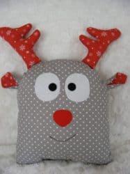 farmhouse christmas decor - Reindeer Pillow