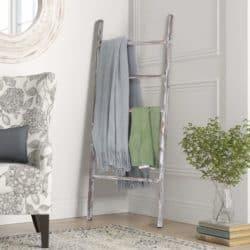 farmhouse christmas decor - Rustic Blanket Ladder
