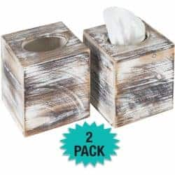Rustic Tissue Box Cover
