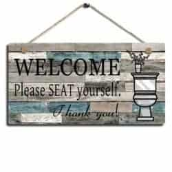 Wall Hanging Welcome Sign