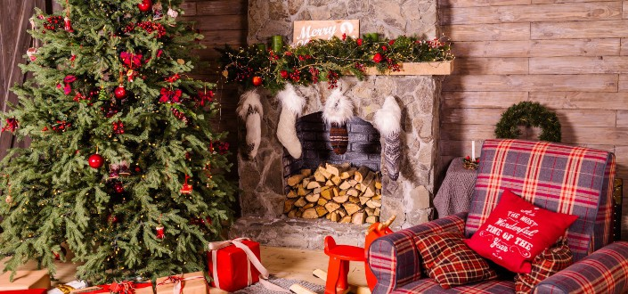farmhouse christmas decor - farmhouse living room christmas décor ideas