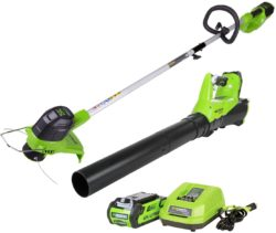 Top 10 best weed wacker - GreenWorks G-MAX 40V Cordless String Trimmer and Leaf Blower Combo