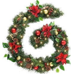 3. Christmas Garland with Ball Ornaments (1)