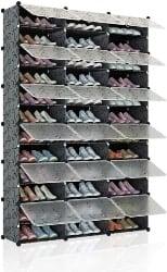 4. 72-pair Shoe Rack Storage Organizer with Doors (1)