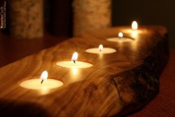 47. Wood Candle Holder (1)