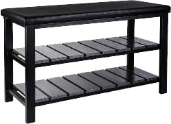81. Black Shoe Rack Bench (1)