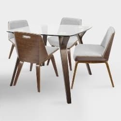 Best Modern Cheap Furniture Ideas - Glass And Wood Mid Century Dining Collection (1)