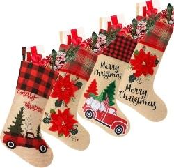 Burlap Christmas Stockings (1)