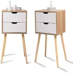 Cheap Modern Furniture Ideas - Set of 2 Accent Bedside End Table