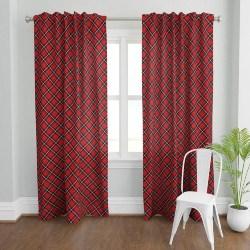 Christmas Plaid Window Curtains (1)