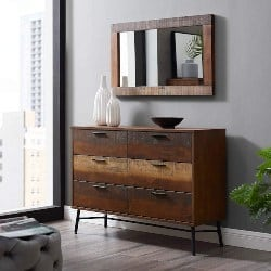 Modern Bedroom Furniture - Rustic Modern Wood 6-Drawer Bedroom Dresser