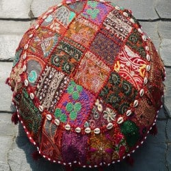 Modern Bohemian Furniture - Shanti Heart floor cushion (1)