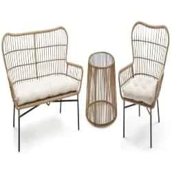 Modern Cheap Furniture Ideas - Chat 3-Piece Settee Patio Set