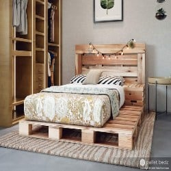 Modern Palet Furniture - Twin Size Pallet Bed (1)