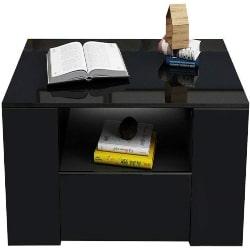 Modern family Room Furniture - Modern High Gloss Rectangular Coffee Table (1)