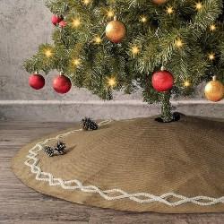 Natural Burlap Tree Skirt (1)