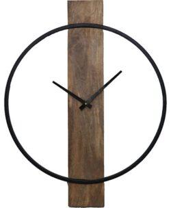 Pearl Wall Clock, Natural/Black