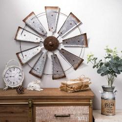 Rustic Farmhouse Windmill Wall Decor (1)