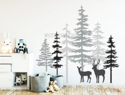 Stag Forest Wall Decal Set (1)