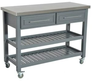 best minimalist furniture- HOMCOM Rolling Kitchen Island Cart