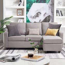 best minimal furniture - HONBAY Convertible Sectional Sofa