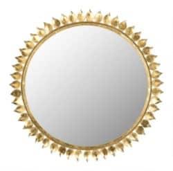 best minimalist furniture - Round Gold Leaf Crown Mirror