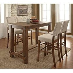 traditional furniture - Furniture of America 5 Piece Dining Set
