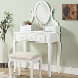 best traditional furniture - Roundhill Furniture Vanity Set Mirror