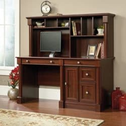 best traditional furniture - Sauder Palladia Computer Desk and Hutch