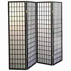 cheap furniture - 4-Panel Folding Screen Black and White
