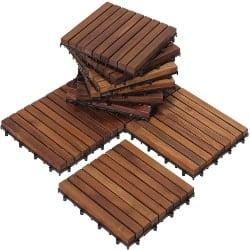 cheap furniture - Flooring tiles solid teak wood oiled finish (1)