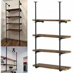 cheap furniture - Industrial Wall Mount Iron Pipe Shelf