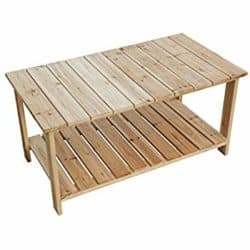 cheap furniture - Outdoor Coffee Table Natural Wood Patio Furniture
