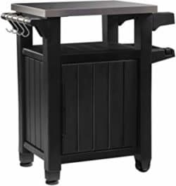cheap furniture - Outdoor Table with Storage Cabinet and Stainless Steel Top