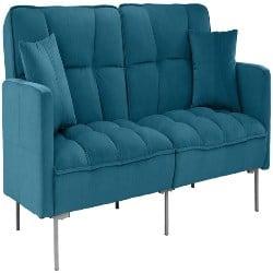 cheap furniture - Tufted Velvet Splitback Living Room Futon (1)