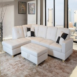 family room furniture - Beverly Fine Funiture Sectional Sofa