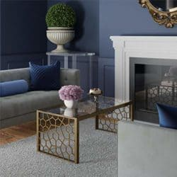 family room furniture - CosmoLiving by Cosmopolitan Glass Top Coffee Table