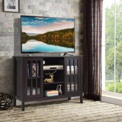 family room furniture - Tangkula Wooden Classic TV Stand
