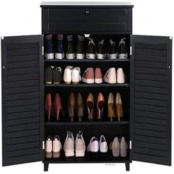 family room furniture - Topeakmart Modern Shoe Storage Cabinet