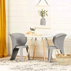 Cheap Family Furniture Ideas - Sweedi Kids Table and Chairs Set Elephant Gray - South Shore