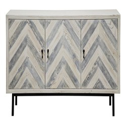 Cheap Family Room Furniture Ideas - Chevron 60in Sideboard Blue&Natural