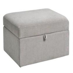 Cheap Family Room Furniture Ideas - Gray Emmett Modular Sectional Storage Ottoman
