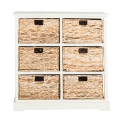 Cheap Family Room Furniture Ideas - Kera 6-Basket Storage Unit, Off-White
