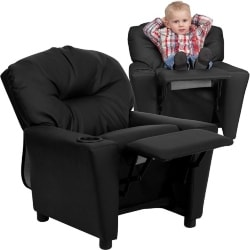 Cheap Family Room Furniture Ideas - Kids' Vinyl Recliner with Cup Holder