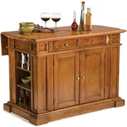 Cheap Kitchen Furniture Ideas - Americana Black and Distressed Oak Kitchen Island by Home Styles