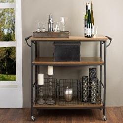Cheap Kitchen Furniture Ideas - Baxton Studio Lancashire Wood and Metal Kitchen Cart (1)