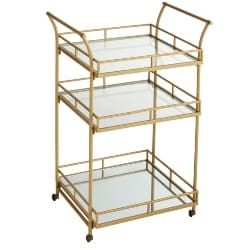 Cheap Kitchen Furniture Ideas - Golden Square Bar Cart (1)