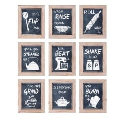 Cheap Kitchen Furniture Ideas - Kitchen Sentiments Wall Decor Set (1)